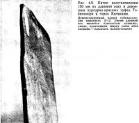 Рис. 4.9. Пятно восстановления в девонских пурпурно-красных туфах