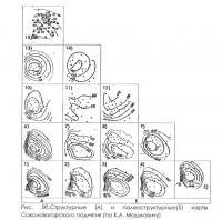 Рис. 5, б. Структурные и палеоструктурные карты Соколовогорского поднятия