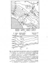 Рис. 53. Структурно-тектоническая схема западной части Мургабской впадины