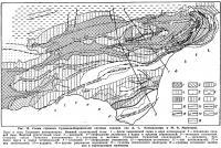 Рис. 58. Схема строения Судакско-Карадагской системы складок