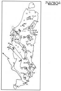 Рис. 6.3. Схема СТ, °С в кровле апта (ТП1) Ямальской ГНО