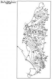 Рис. 6.4. Схема СТ, °С в кровле средней юры Ямальской ГНО