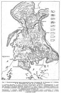 Рис. 7. Палеотектоническая карта раннеюрской эпохи