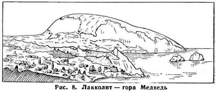 Рис. 8. Лакколит — гора Медведь