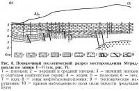 Рис. 8. Поперечный геологический разрез месторождения Мураднахлы