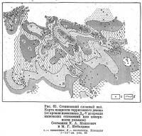 Рис. 85. Степновский сложный вал. Карта мощности терригенного девона