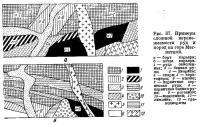 Рис. 87. Примеры сложной перемежаемости руд и пород на горе Магнитной