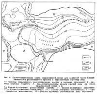 Рис. 9. Палеотектоническая карта среднеюрской эпохи для западной части Енисей-Хатангского прогиба