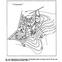 Рве. 3.8. Геофизическое месторождение. Структурная карта но кровле пласта ТП5